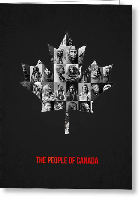 Photo Collage Greeting Cards - The People of Canada Greeting Card by Aged Pixel
