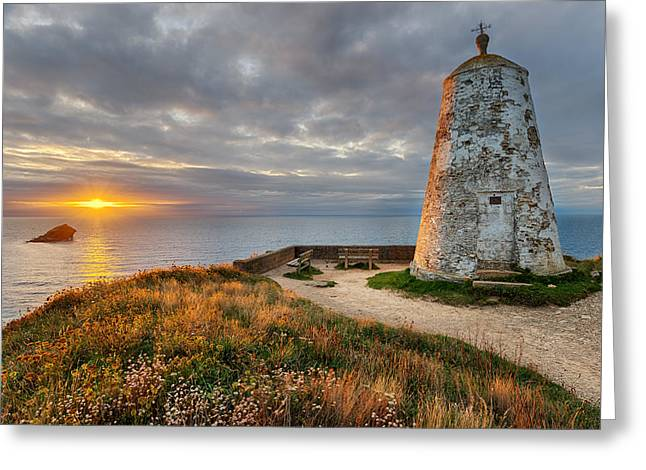 Kernow Greeting Cards - The Pepperpot Greeting Card by Helen Hotson