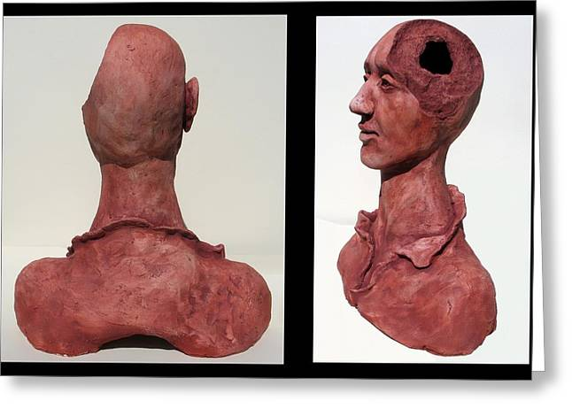 Bust Sculptures Greeting Cards - The Philosopher Greeting Card by Julianna Wells