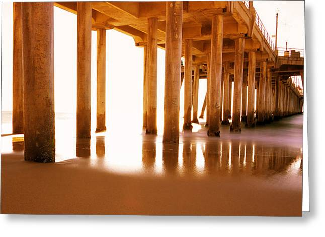 Pier Pilings Greeting Cards - The Pier II Greeting Card by Heidi Smith