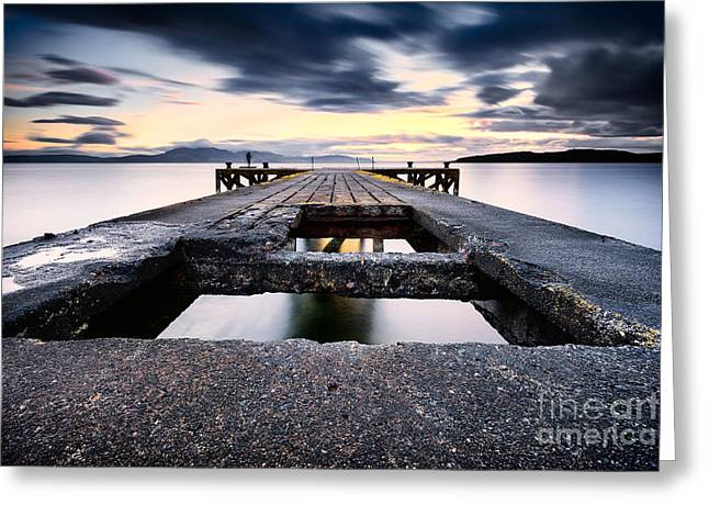 Ayrshire Greeting Cards - The Pier Greeting Card by John Farnan