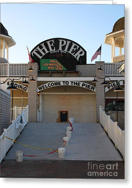 Vacationland Greeting Cards - The Pier Greeting Card by Michael Mooney