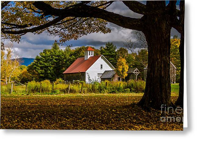 Sutton Farm Greeting Cards - The Pillsbury Barn. Greeting Card by New England Photography