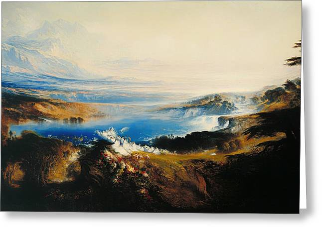 Eternal Life Greeting Cards - The Plains of Heaven Greeting Card by John Martin