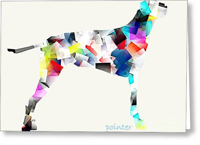Abstract Of Dogs Greeting Cards - The Pointer Greeting Card by Bri Buckley