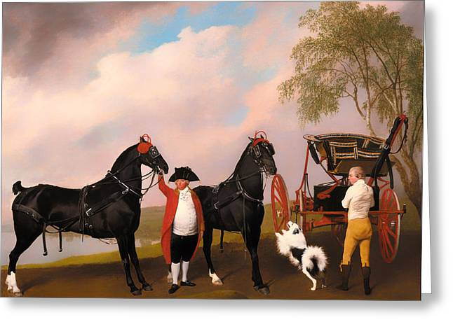 Landscapes Of Wales Greeting Cards - The Prince of Wales Phaeton  Greeting Card by George Stubbs
