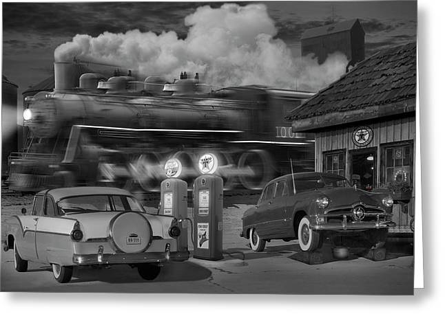 The Pumps Greeting Card by Mike McGlothlen
