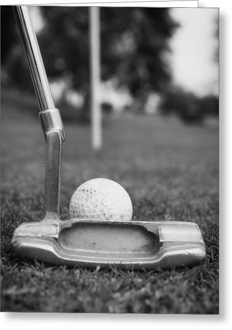 Recently Sold -  - Concept Photographs Greeting Cards - The Putter - Lining Up the Shot Greeting Card by Mountain Dreams