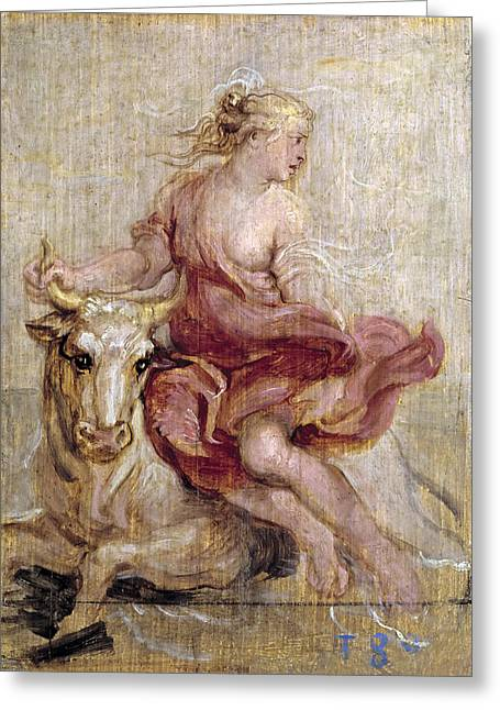 The Rape Greeting Cards - The Rape of Europa Greeting Card by Peter Paul Rubens