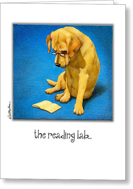 Reading Greeting Card Greeting Cards - The Reading Lab... Greeting Card by Will Bullas