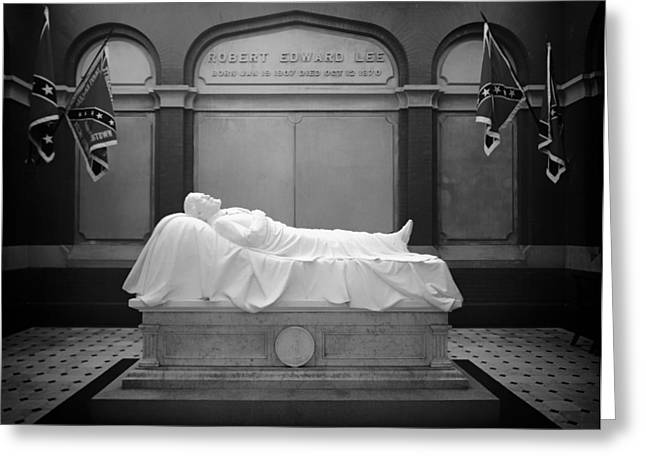Confederate Flag Photographs Greeting Cards - The Recumbent Robert E. Lee Greeting Card by Mountain Dreams