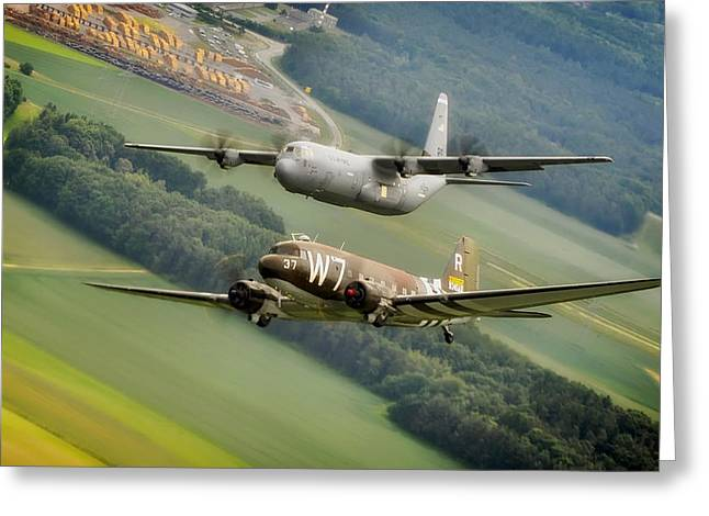 U.s. Air Force Greeting Cards - The Return of Whiskey 7 Greeting Card by Mountain Dreams