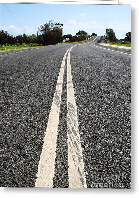 Gravel Road Greeting Cards - The Road Less Travelled Greeting Card by Ryan Jorgensen