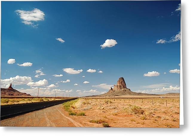 Black Mesa Greeting Cards - The Road to Monument Valley Greeting Card by Silvio Ligutti