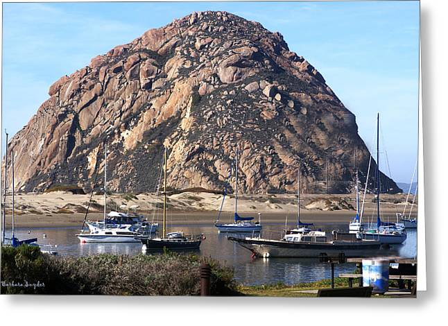 Surfing Photos Digital Art Greeting Cards - The Rock At Morro Bar Greeting Card by Barbara Snyder
