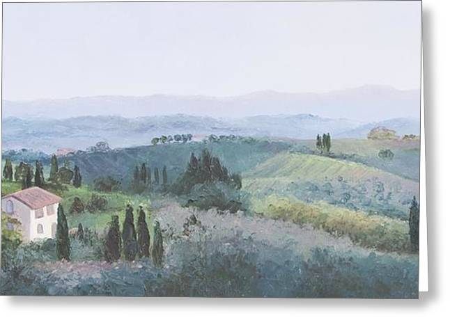 Tuscan Hills Greeting Cards - The Rolling hills of Tuscany Greeting Card by Jan Matson