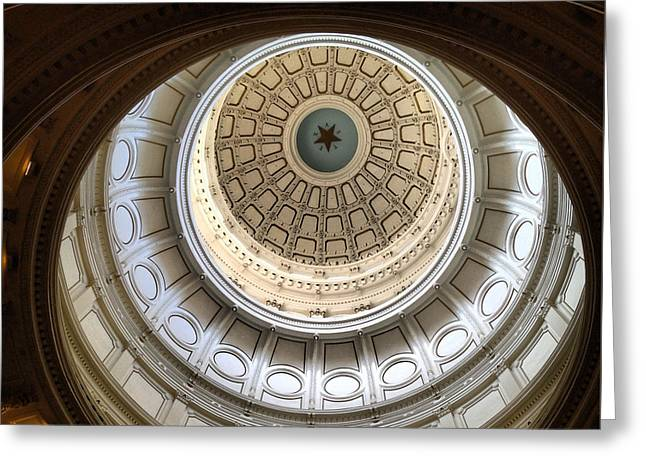 Austin Architecture Greeting Cards - The Rotunda Greeting Card by Natasha Marco