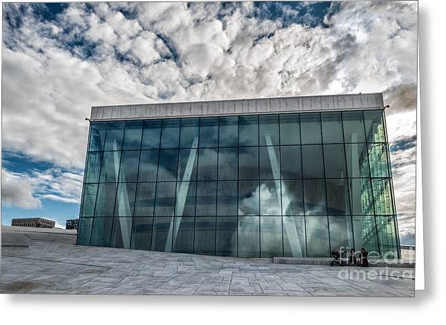 The Royal National Opera House In Oslo Norway Greeting Card by Frank Bach
