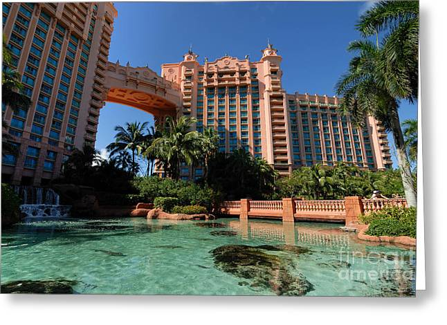 Atlantis Greeting Cards - The Royal Towers Atlantis Resort Greeting Card by Amy Cicconi