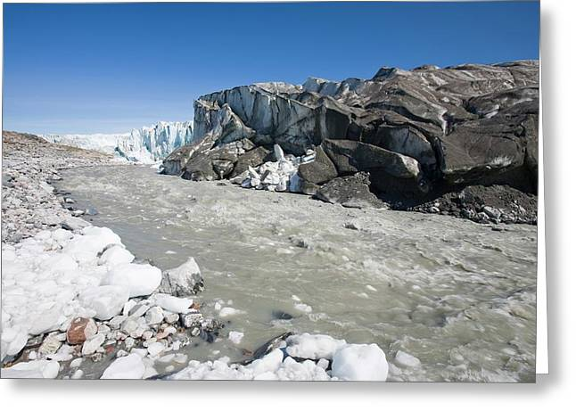 The Russell Glacier Greeting Card by Ashley Cooper