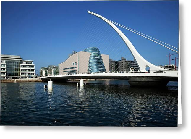 The Samual Beckett Bridge Greeting Card by Panoramic Images