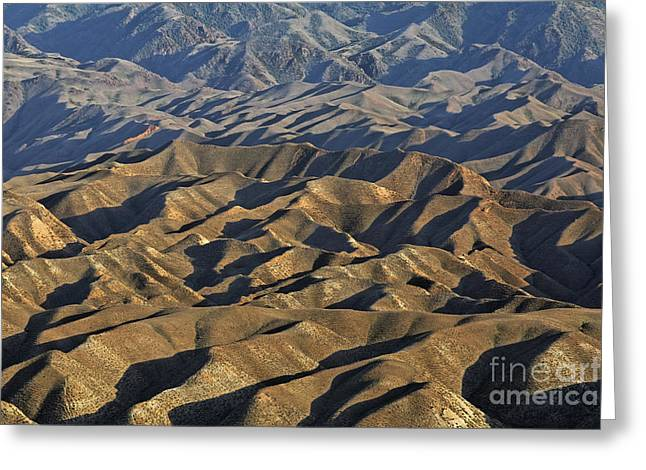 Central Asia Greeting Cards - The Sary Kamysh mountain range in central Kyrgyzstan Greeting Card by Robert Preston