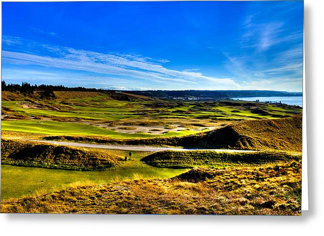 Us Open Greeting Cards - The Scenic Chambers Bay Golf Course IV - Location Of The 2015 U.S. Open Tournament Greeting Card by David Patterson
