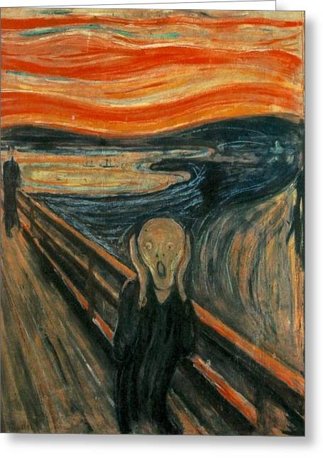 The Scream Greeting Cards - The Scream Greeting Card by Celestial Images