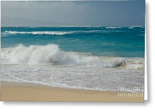 Jewels In The Sand Greeting Cards - The Sea Greeting Card by Sharon Mau