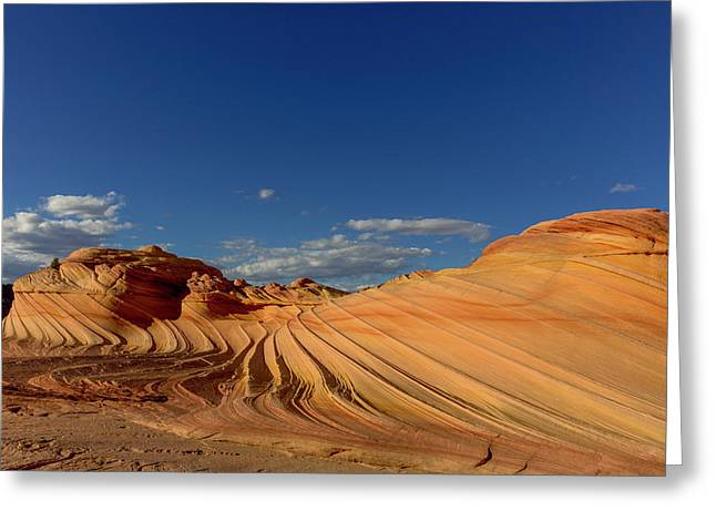 The Second Wave In The Vermillion Greeting Card by Chuck Haney
