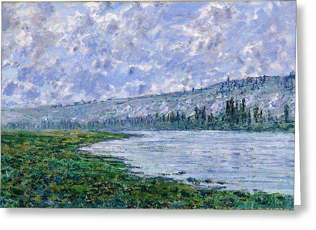 Vetheuil Greeting Cards - The Seine at Vetheuil Greeting Card by Claude Monet