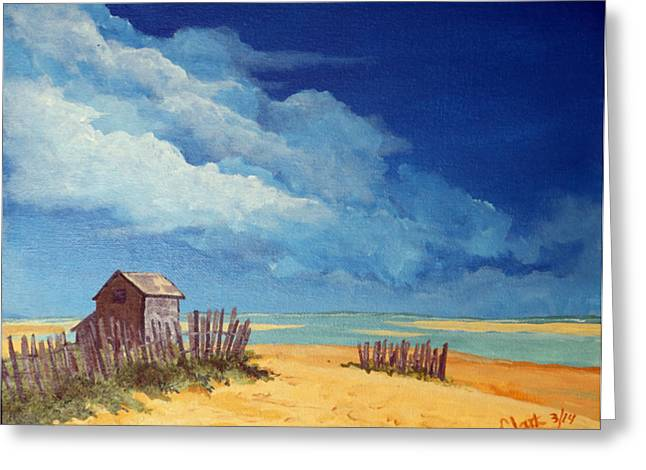 Chatham Paintings Greeting Cards - The Sentinel Greeting Card by Roger Clark Artist