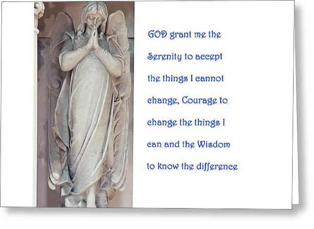 Aa Greeting Cards - The Serenity Prayer Greeting Card by Philip Ralley
