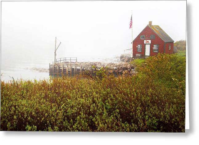 Lobster Shack Greeting Cards - The Shack Greeting Card by Don Powers