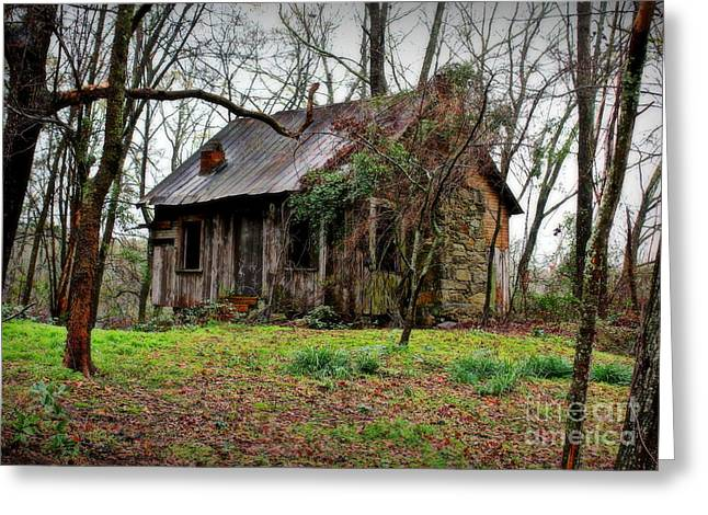 Tin Roof Greeting Cards - The Shack Greeting Card by Reid Callaway