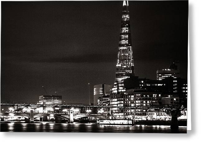 White River Scene Greeting Cards - The Shard and London Skyline Greeting Card by Ian Hufton