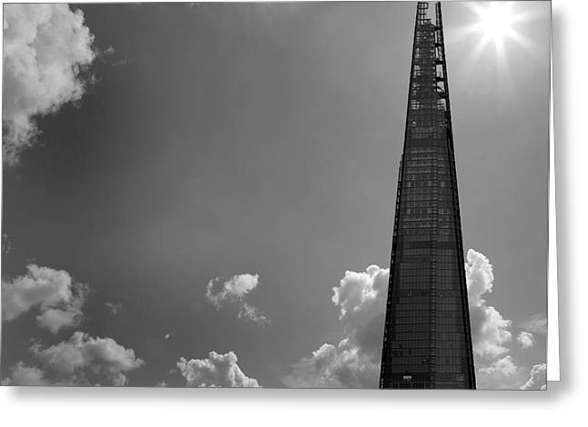 Urban Exploration Greeting Cards - The Shard London Greeting Card by Martin Newman