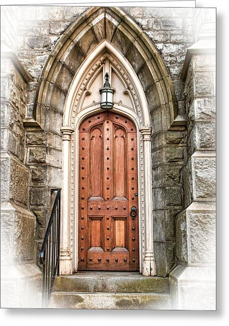 Entrance Door Greeting Cards - The Side Door Greeting Card by Joanne Shedrick