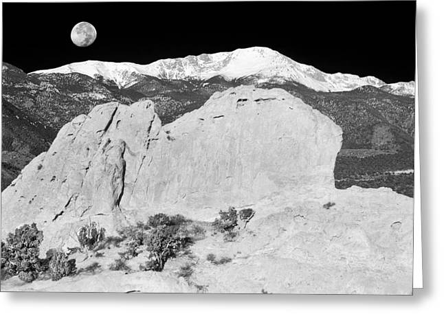 Cover The Face Greeting Cards - The Sleeping Indian And Pikes Peak  Greeting Card by Bijan Pirnia