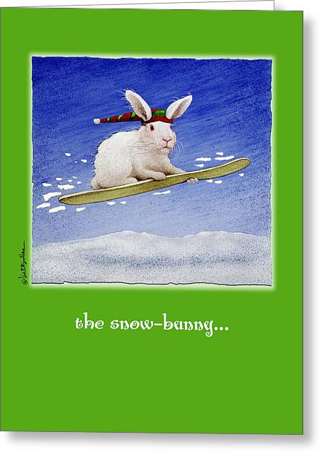 The Snow Bunny... Greeting Card by Will Bullas