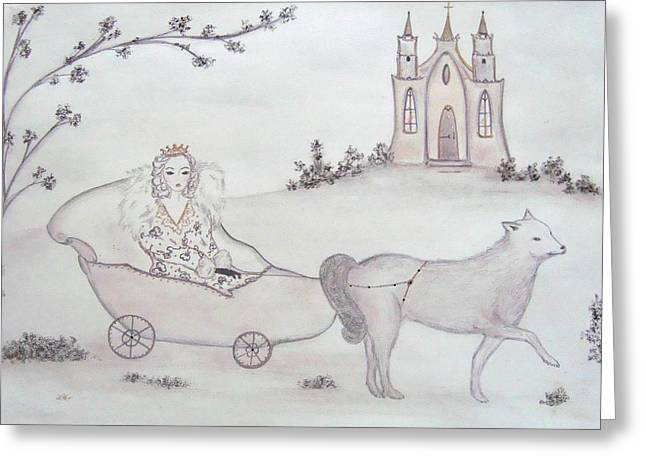 Royalty Pastels Greeting Cards - The Snow Queen  Greeting Card by Christine Corretti