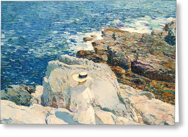 Sundress Greeting Cards - The South Ledges Appledore Greeting Card by Childe Hassam