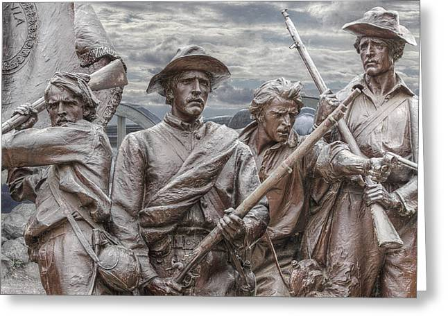 Statue Of Confederate Soldier Greeting Cards - The South will Rise Again Greeting Card by Randy Steele