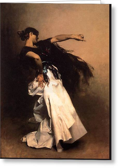 Sargent Greeting Cards - The Spanish Dancer Greeting Card by John Singer Sargent