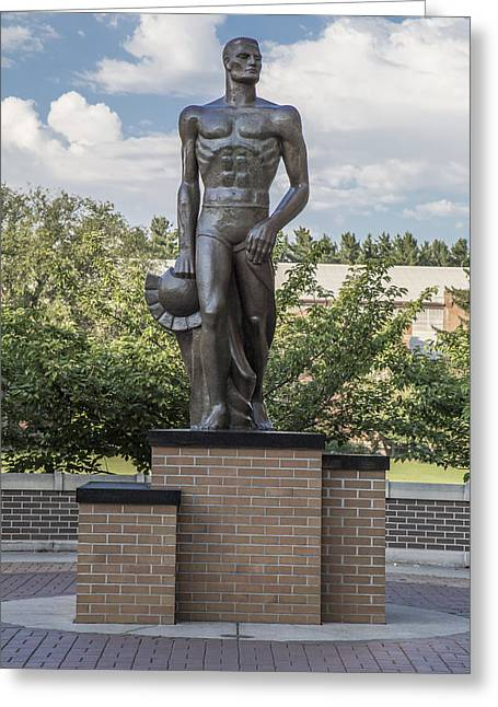 The Spartan Statue At Msu Greeting Card by John McGraw