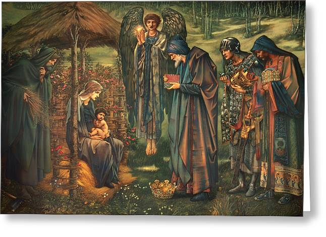 Religious Artwork Paintings Greeting Cards - The Star of Bethlehem  Greeting Card by Edward Burne-Jones
