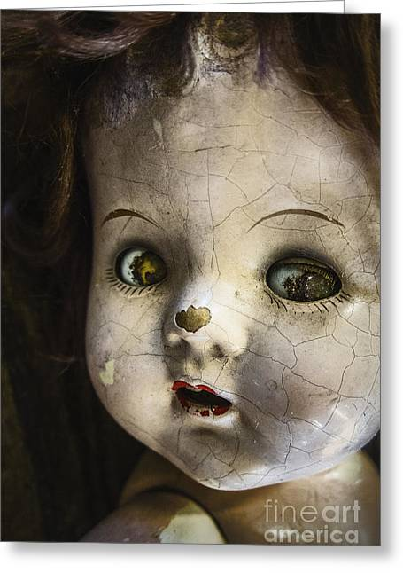 Pale Lips Greeting Cards - The Stare Greeting Card by Margie Hurwich