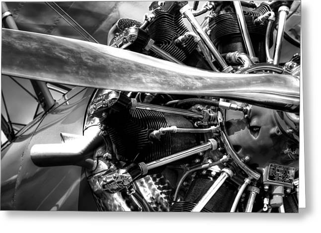 Aircraft Engine Greeting Cards - The Stearman Jacobs Aircraft Engine Greeting Card by David Patterson