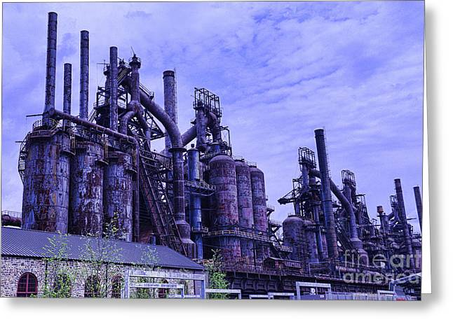 Abandoned Mill Greeting Cards - The Steel Mill Greeting Card by Paul Ward
