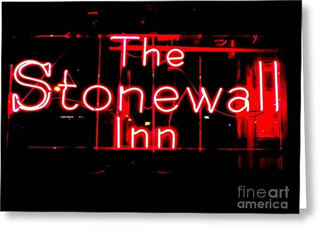 Recently Sold -  - Liberation Greeting Cards - The Stonewall Inn Greeting Card by Ed Weidman